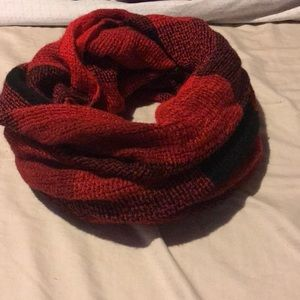 Forever 21 red plaid infinity blanket scarf